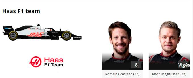 2020-Haas Formula 1 Online Gratias