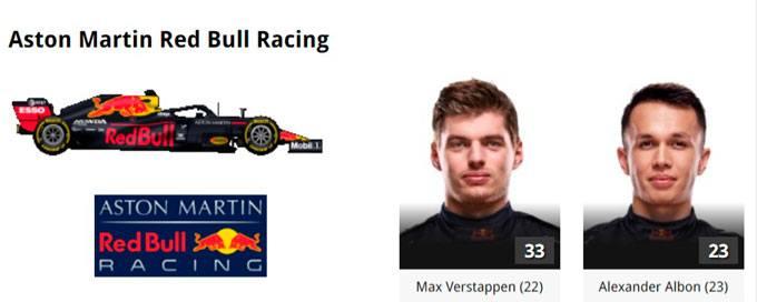 2020 RedBull Formula 1 Online Gratias