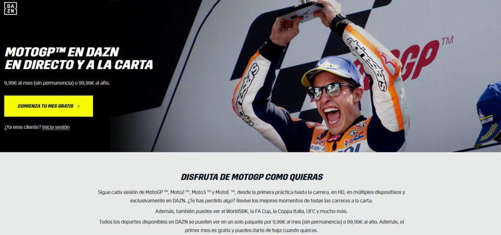 DAZN Ver MotoGP Online Gratis