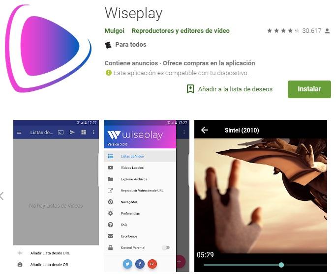 Descargar Wiseplay para Android
