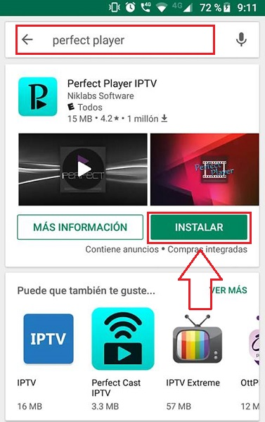 instalar perfect player paso 2