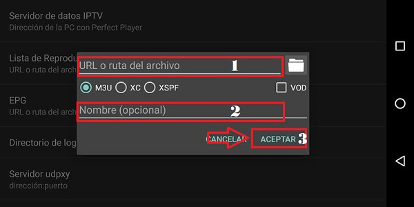 instalar perfect player paso 6